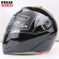 Wholesale JIEKAI Safe Flip Up Motorcycle Helmet With Inner Sun Visor Everybody Affordable Double Lens Motorbike Helmet FELIZCOCHE A2311