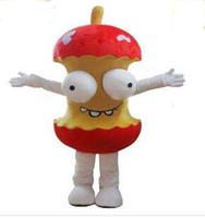animated helmet - 2017 High Quality EVA Material Helmet Animated cartoon humor apple mascot costume Christmas Halloween adult clothes EMS