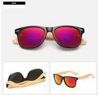 bamboo shield - MOQ summer Men s Radiation bamboo Sunglasses cycling glasses driving glasses woman moso bamboo driving sun glasses colors free shi