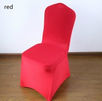 Wholesale DHL Delievry Red Universal Stretch Polyester Spandex Party Wedding Chair Covers for Weddings Lycra China Dining Kitchen Chair Cover