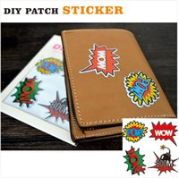 accessories pows - PA22 Pc Pack Fashion Patch Sticker with POW WOW BOOM Pattern for Apparel Makeup bag decoration DIY Sticker Accessories