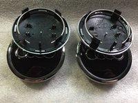 audi rims oem - 4pcs mm Black Grey OEM Car Wheel Center Cap Car Rim Emblem Badge Fit For AUTO A4 A6 RS6 P N B0 A Hub Caps