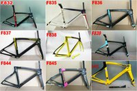 Wholesale customs duty New F8 black Yellow Fluo frame carbon bicycle frameset road bike Frame bicycle glossy