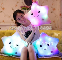Wholesale cm cm Star Light Colorful Pillows Stuffed Toys Super Quality Popular Toys During Girls And Kids