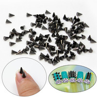 "HB00229 alloy APPROX 4MM*5MM /0.16"" * 0.2\"" Wholesale- 2016 New 100 X Cone Shaped 4*5mm Punk Tiny Metallic Nail Art Decoration 3D Studs Nail Charm DIY Manicure Tools Hot Sale"