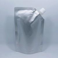 Wholesale Spout Pouch Wholesale - 18*25cm 1000ml 10Pcs Jelly Doypack Pure Aluminum Foil Spout Bag Juice Drinking Liquid Storage Stand Up Spout Mylar Package Pouch