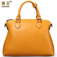 amazon women handbags - Qiwang Large Yellow Handbags Amazon Shop Hot Sales Nice Leather Hand Bag Litchi Pebble Top Layer Cowide Original Bag Big