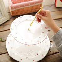 Wholesale High Quality set Tier Cake Plate Stand Handle Fitting Hardware Rod Plate Stand