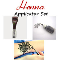 art drawing faces - Mehndi Henna Applicator Bottle Nozzle Set Tattoo Stencil Henna Cream Drawing Temporary Body Art Wedding Tatoo Adult Product