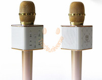 Wholesale Q7 Wireless Bluetooth Handheled KTV Karaoke Microphone Mic Speaker With Battery Support IPhone IOS Android With Retail Box