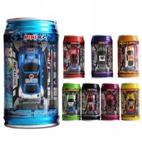 Wholesale Original Colors Coke Can Mini Speed RC Radio Remote Control Micro Racing Car Toy with Road Blocks RC Toys Kid s Toys Gifts