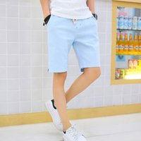 Wholesale color explosion models cool summer mens casual shorts breathable cotton simple thin section loose shorts size M XL