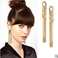 asos women - European ASOS Star With A Ear Nail The Influx Of Goods Fashion Chain Tassels Earrings Woman Earring