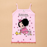 baby girl clothing boutiques - Baby Kids Clothing Tops Tees girls Tank Top tops summer korean fashion Cute cartoon letters boutique Cotton top t shirts