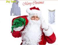 Wholesale Deluxe Santa Christmas Santa Claus Wig Beard Set Christmas Fancy Dress Claus Beard Heat Resistant Cosplay wig