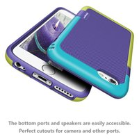For Apple iPhone apples slip covers - Colorful Candy Double Color Silicone Plastic Hybrid Case For iPhone S Plus Plus Bumblebee Shockproof Anti Slip Cover