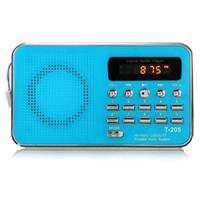 audio port colors - New T205 LCD Display Digital FM Radio Mini Music Player MP3 WMA MMC Support TF Card USB Port Aux Audio Player Colors