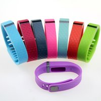 Wholesale 50pcs D Texture Replacement Silicone Wrist Strap for Fitbit Flex Wireless Activity Bracelet Wristband with Metal Clasps