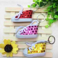 activity keychains - Creative gift Sequin high shoes simulation canvas shoes key buckle strap shoes A variety of on site activities gifts