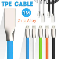 For Apple iPhone apple shaped usb - Micro USB and Phone Cable M ft shaped Rhombus TPE Cable Tangle Free Zinc Alloy Plug USB Cable for iPhone Android Samsung