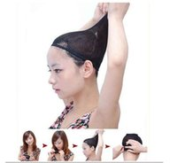 Wholesale Black Stretchable Elastic Hair Net Snood Mesh Wig Cap for Cosplay
