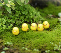 Wholesale Fairy Garden Miniature Yellow Chick Chicken cute artificial mini chick decors resin crafts bonsai decors children gift