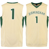 Acheter Mens blazers de sport-NO.1 UAB Blazers Men College Basketball Jersey broderie Athletic Outdoor Clothing Hommes Sport Maillots Taille S-3XL