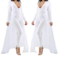 Wholesale 2016 Autumn Rompers For Women Fashions Jumpsuits European Major Suit Fashion Suit dress Trousers Additional Draped Skirt Bodycon Jumpsuit