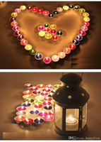 Wholesale Essence Candle Set Home Sweet Home sentiment stones living bedroom bathroom Colorful Anself Water Floating Candles Party Decor Wax Smokeless