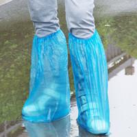 Глубоководные огни Цены-Одноразовые водонепроницаемые чехлы для обуви, легкий пластик, один размер подходит всем, синий, глубокая вода, снег, держите воду на ботинках