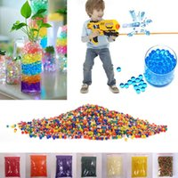 Wholesale 10000pcs packet mm colored orbeez soft crystal water paintball nerf gun bullet grow water beads grow balls water gun toys