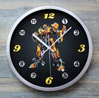 Wholesale Creative Three dimensional Transformers Wall Clock Sitting Room The Bedroom Wall Clock