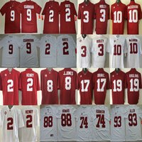 Wholesale 2 Jalen Hurts Bo Scarbrough Jonathan Allen Julio Jones A J McCarron Ridley O J Howard Alabama Crimson Tide Jersey men football sport shirt