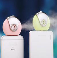 apple humidifier - Phone Humidifier Beauty Mist Spray Diffuser USB Mini Ultrasonic Humidifier Filling Water For iPhone Android Aromatherapy Mist Maker Fogger