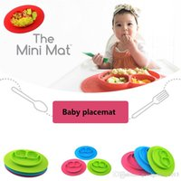 Wholesale Mini Travel Mat Baby bowls kids tableware Kid Feeding Placemat silicone placemat kids plate bowl Baby learning silicone dishes color B1114