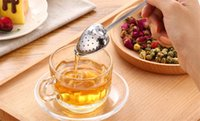 Wholesale Heart Shaped tea infuser Mesh Ball Stainless Strainer Herbal Locking Tea Infuser Spoon Filter