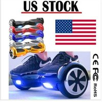 Wholesale 6 inch Two Wheels Balance Scooters Hoverboard Smart Electric LED Scooter Skateboard Mini Self Balancing Wheel USA Stock Drop Shipping