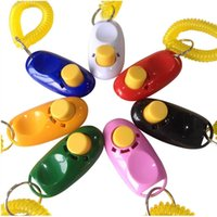 Wholesale Pet Training Clicker Button Clicker with Wrist Strap Training Dog Cat Horse Pets for Clicker training