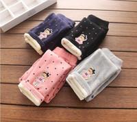 bear leggings - With children s wear in winter Girl s cartoon bear embroidery panty Little all Inca velvet leggings