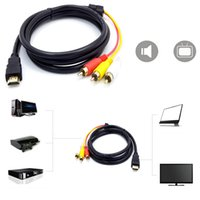 Wholesale M P HDMI to RCA Cable HDMI to AV Male Adapter Audio Video Cable for DVD HDTV STB
