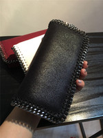 Wholesale New falabella Real picture Shaggy Deer Women s Foldover Clutch Wallets Chain Purse