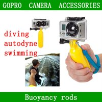 floating bobber - For Go Pro Hero Sj4000 Xiao yi Sport Camera Accessories GoPro Bobber Floating Handheld Stick Hand Grip Monopod