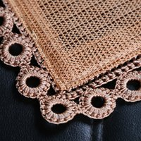bamboo seat mat - Summer Automobile Monolithic Cooling Mat Cushion General Purpose Environmental Protection Square Pad Crochet Bamboo Square Pad
