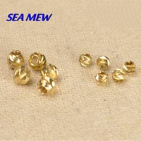 Wholesale 200 mm mm Vintage Brass Round Spacer Beads Carved Hole Beads For Jewelry Making bz