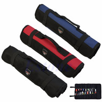 Wholesale Hardware Tools Roll Plier Screwdriver Spanner Carry Case Pouch Bag Pockets