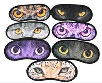 Wholesale 240pcs Sexy D Print Animal Eyeshade Covers Travel Sleeping Eye Mask Sleep Aid Cover Blindfold Eye Mask A071