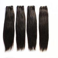100 trama del pelo humano Brazalete brasileño recto Extensiones de pelo # 1B Negro # 2 # 8 Brown # 613 Longitudes de mezcla rubias Brazalete de pelo brasileño 12