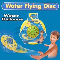 beach ball balloon - New style Swimming Pool Toy kid Bath beach water ball toys Outdoor Fun frisbee Fly Disk Disc toys can put water balloons in it