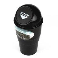 Wholesale Black Office Home Auto Car Waste Trash Rubbish Bin Can Garbage Dust Case Holder