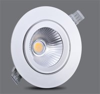 Wholesale LED Downlight W W W Dimmable Ceiling lamp AC85 V White Warm white LED Down Lamp Aluminum Heat Sink convenience lamp led light